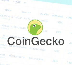 Stylised screenshot of the CoinGecko website