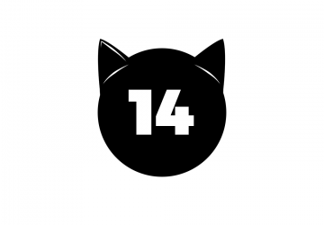 Number 14 interposed on cat ears