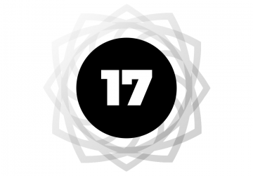 Number 17 within a black circle