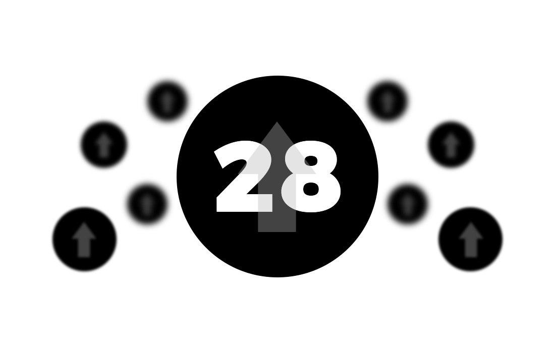 Circle with 28 in it