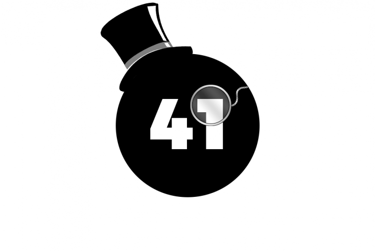 Black Circle with Number 41