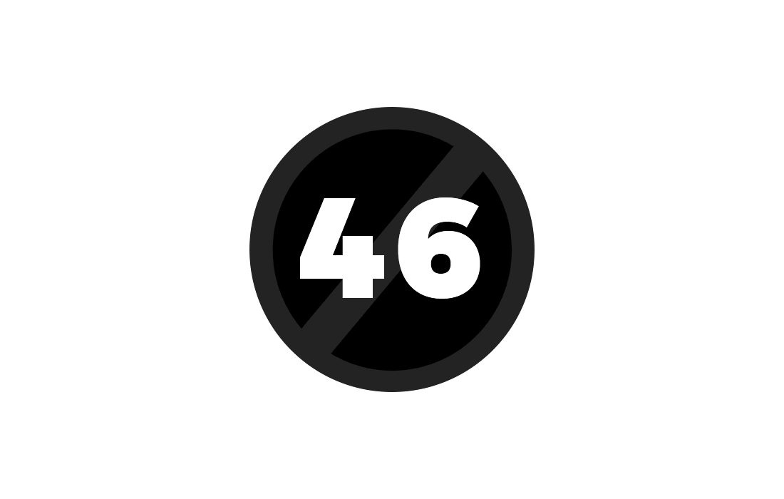 Circle with number 46 in it